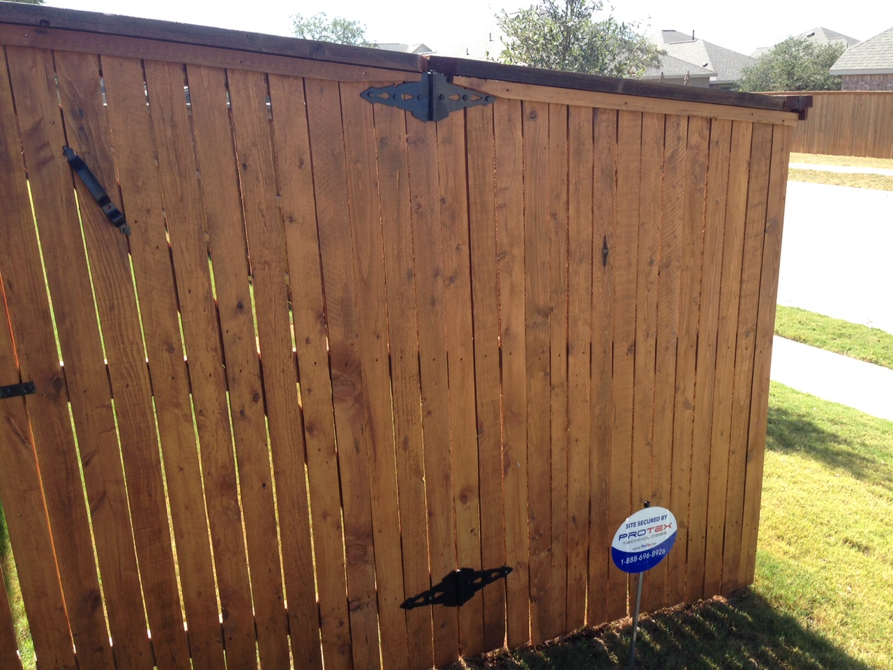 Fence with Toner application
